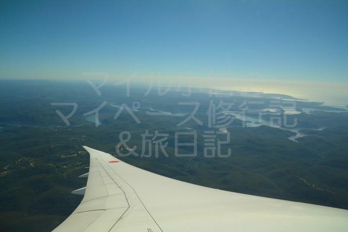 ANAからシドニーの景色