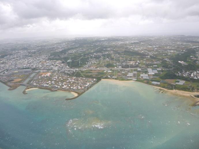 那覇空港周辺の海