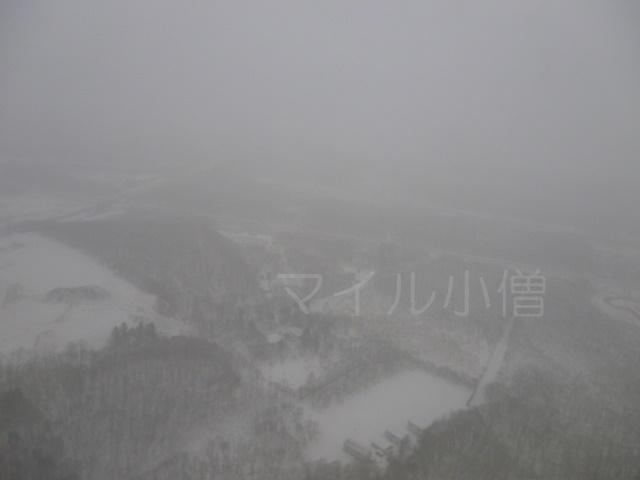 新千歳空港の雪景色