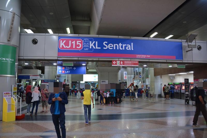 KLセントラルのRapid KL乗り場
