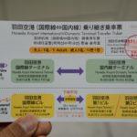 羽田空港乗り継ぎ乗車票