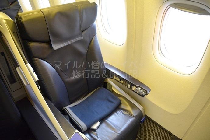 ANAプレミアムクラスの座席