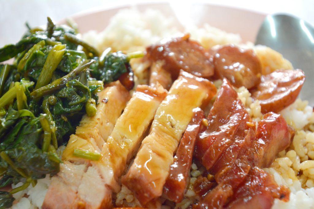 マラッカのグルメ叉焼飯