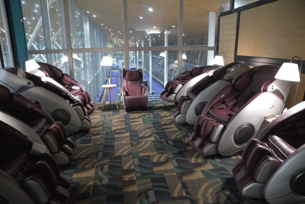 クアラルンプール空港のマッサージチェア